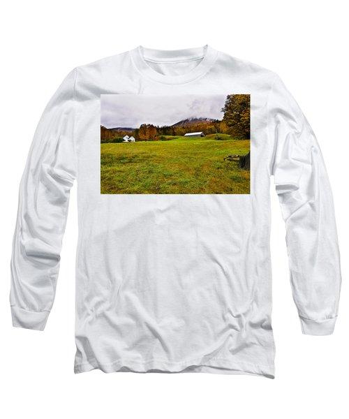Misty Autumn At The Farm Long Sleeve T-Shirt