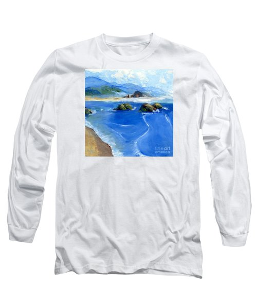 Misty Bodega Bay Long Sleeve T-Shirt by Randy Sprout