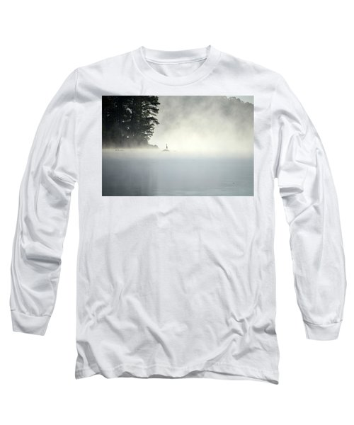 Misty Heron Long Sleeve T-Shirt