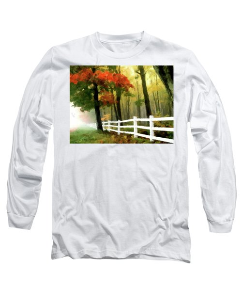 Long Sleeve T-Shirt featuring the painting Misty In The Dell P D P by David Dehner