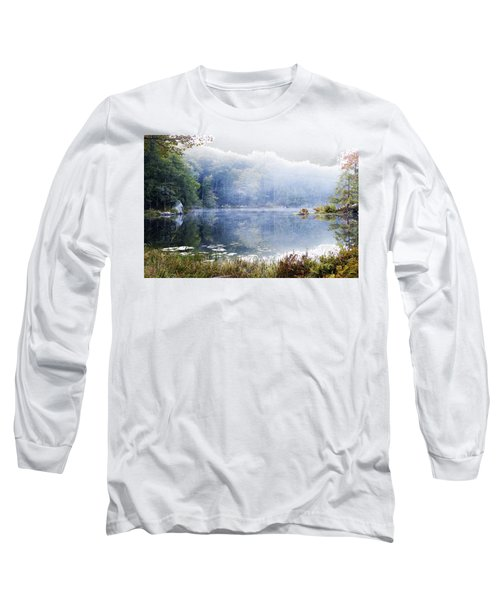 Long Sleeve T-Shirt featuring the photograph Misty Morning At John Burroughs #1 by Jeff Severson