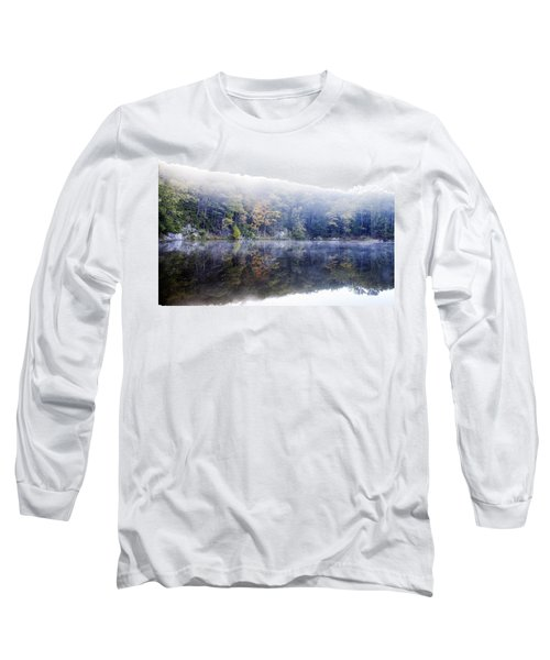 Long Sleeve T-Shirt featuring the photograph Misty Morning At John Burroughs #2 by Jeff Severson