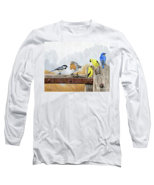 Misty Morning Meadow Long Sleeve T-Shirt