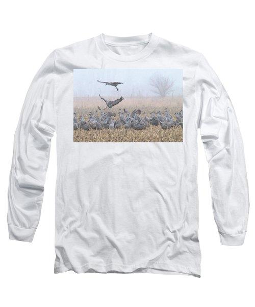 Misty Morning Nebraska Landing Long Sleeve T-Shirt