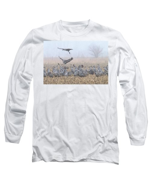 Misty Morning Nebraska Landing Long Sleeve T-Shirt
