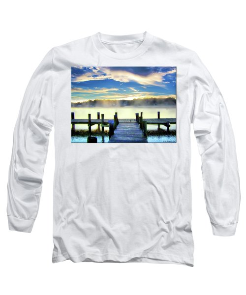 Long Sleeve T-Shirt featuring the photograph Misty Morning On Rock Creek by Brian Wallace