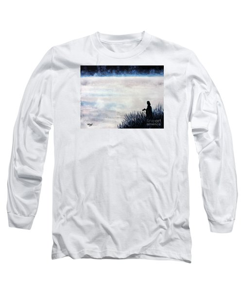 Misty Morning Photographer Long Sleeve T-Shirt by Tom Riggs
