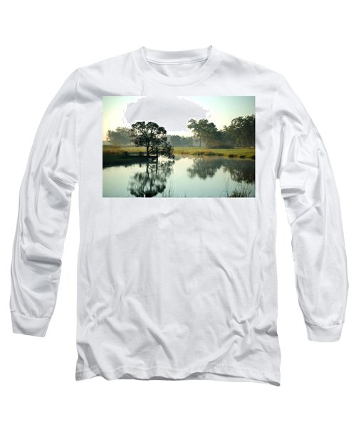 Misty Morning Pond Long Sleeve T-Shirt