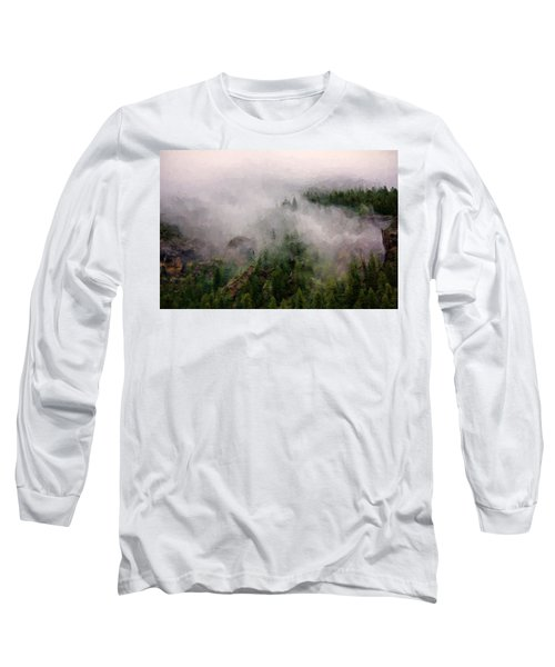 Long Sleeve T-Shirt featuring the photograph Misty Pines by Lana Trussell