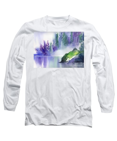 Long Sleeve T-Shirt featuring the painting Misty Summer by Yolanda Koh