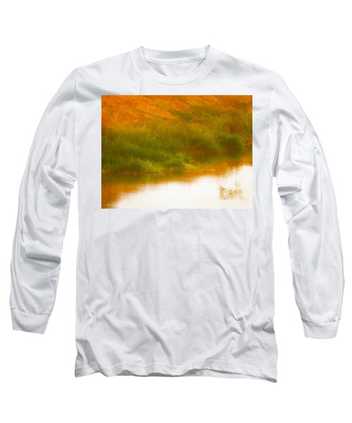 Misty Yellow Hue -lone Jacana Long Sleeve T-Shirt
