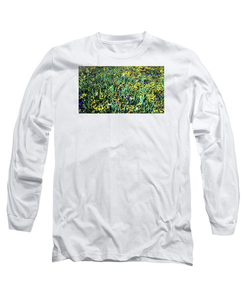 Mixed Wildflowers In Texas Long Sleeve T-Shirt