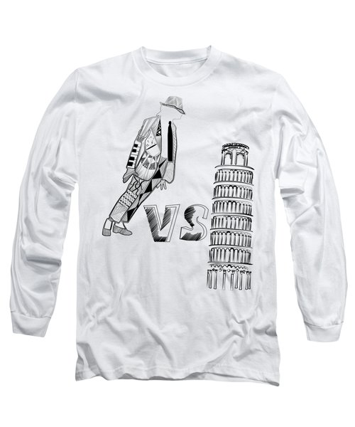 Mj Vs Pisa Long Sleeve T-Shirt by Serkes Panda