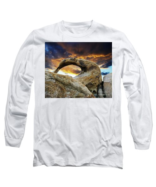 Long Sleeve T-Shirt featuring the photograph Mobious Arch California 7 by Bob Christopher