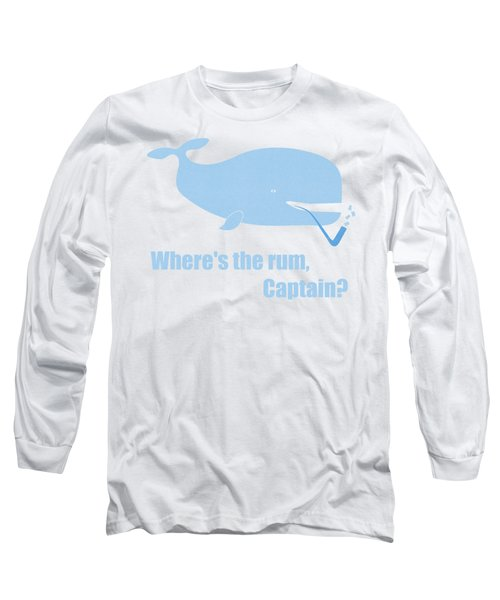 Moby Dick Or The Whale Long Sleeve T-Shirt by Frank Tschakert
