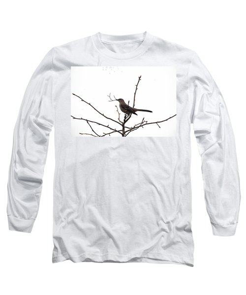 Mockingbird With Twig Long Sleeve T-Shirt