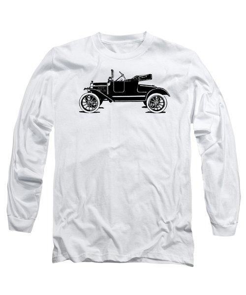 Model T Roadster Pop Art Black Long Sleeve T-Shirt