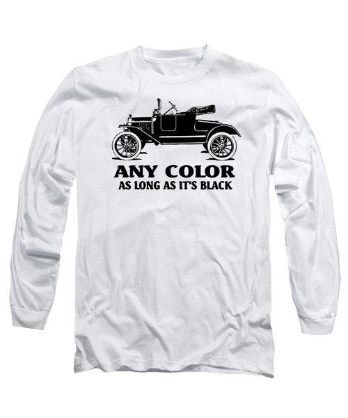 Model T Roadster Pop Art Black Slogan Long Sleeve T-Shirt