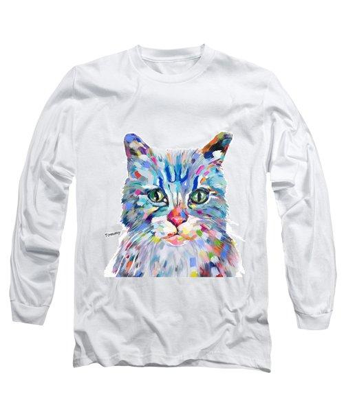 Modern Cat Long Sleeve T-Shirt