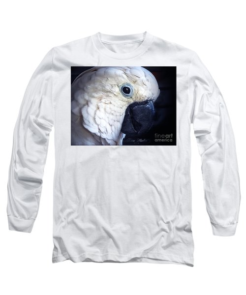 Moluccan Cockatoo Long Sleeve T-Shirt by Melissa Messick