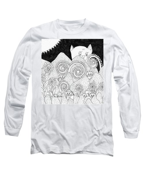 Mom Sees All Long Sleeve T-Shirt by Lou Belcher