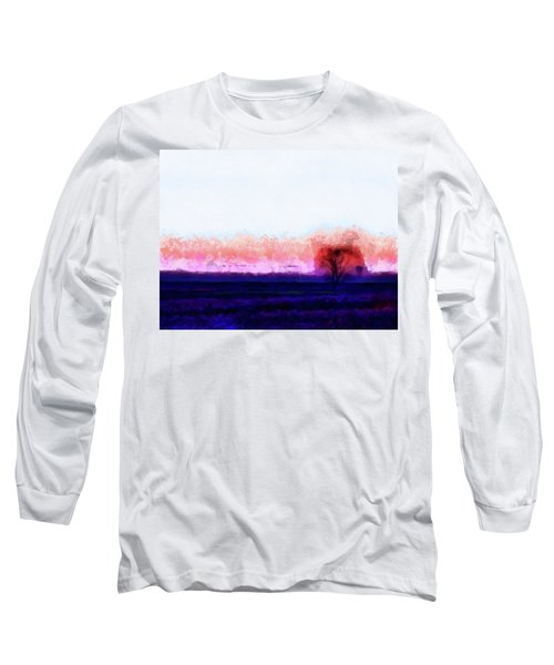 Moment In Blue Horizon Tree Long Sleeve T-Shirt