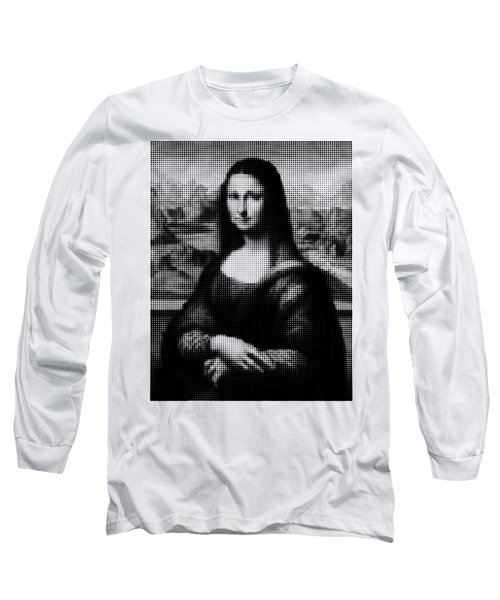 Mona Lisa Halftone Long Sleeve T-Shirt