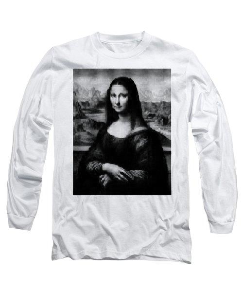 Mona Lisa Halftone Long Sleeve T-Shirt