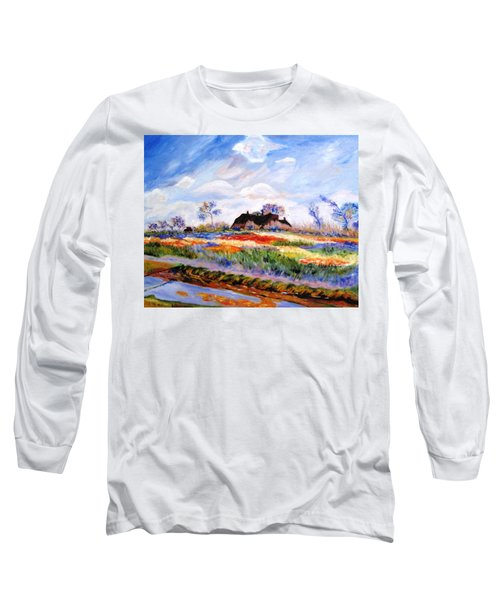 Monet's Tulips Long Sleeve T-Shirt by Jamie Frier