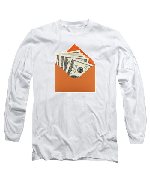 Money In An Orange Envelope Long Sleeve T-Shirt