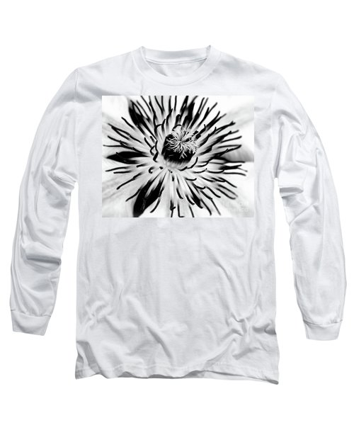 Long Sleeve T-Shirt featuring the photograph Mono Clematis by Baggieoldboy