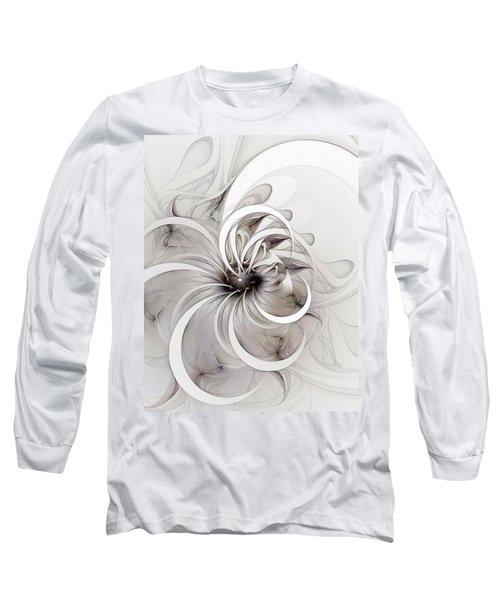 Monochrome Flower Long Sleeve T-Shirt