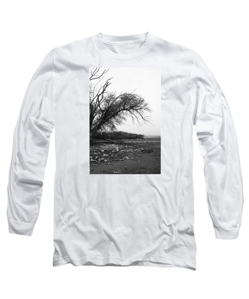 #monochrome #lake #landscape  #stausee Long Sleeve T-Shirt