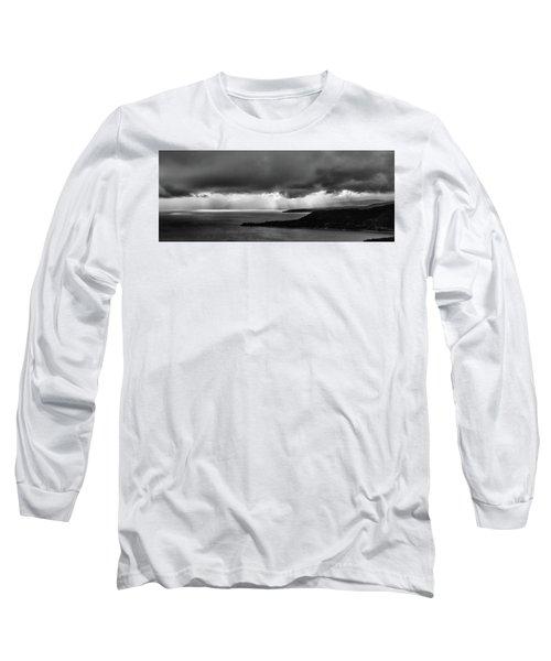 Monochrome Storm Panorama Long Sleeve T-Shirt