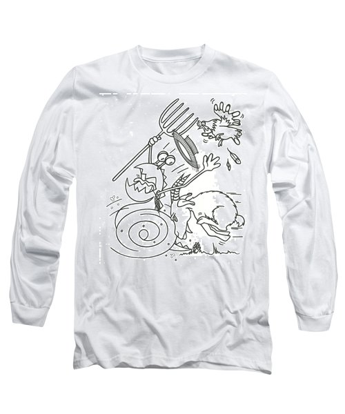 Monster Getting Chased Long Sleeve T-Shirt