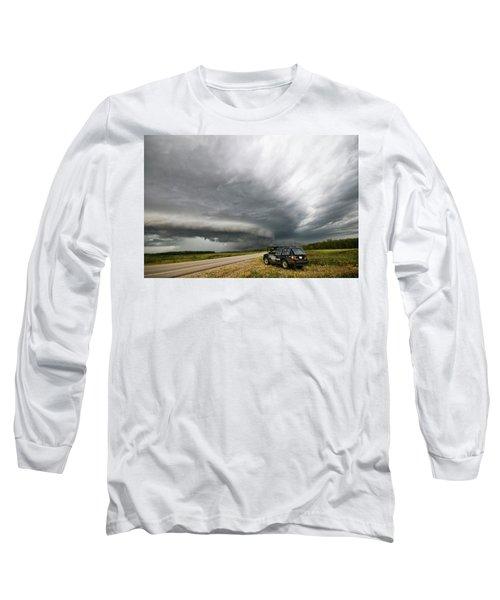 Monster Storm Near Yorkton Sk Long Sleeve T-Shirt