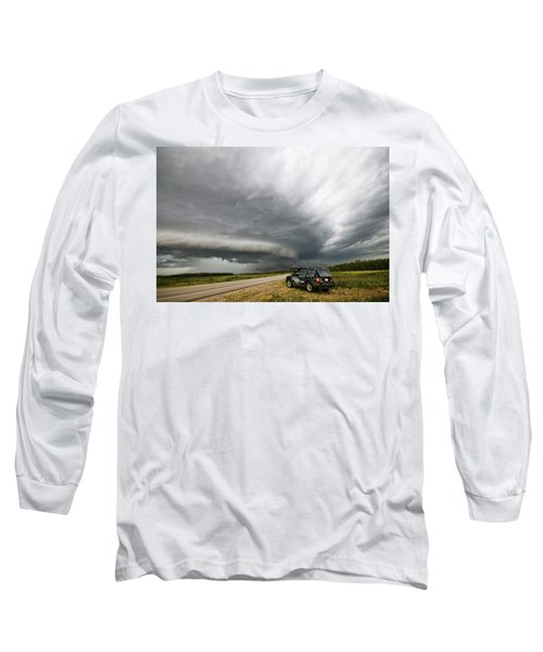 Monster Storm Near Yorkton Sk Long Sleeve T-Shirt