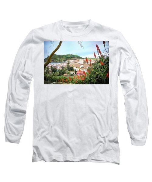 Monte Brasil And Angra Do Heroismo, Terceira Long Sleeve T-Shirt by Kelly Hazel