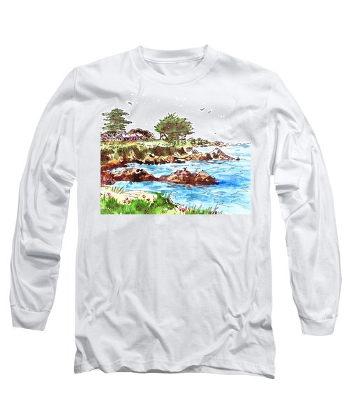 Monterey Shore Long Sleeve T-Shirt by Irina Sztukowski