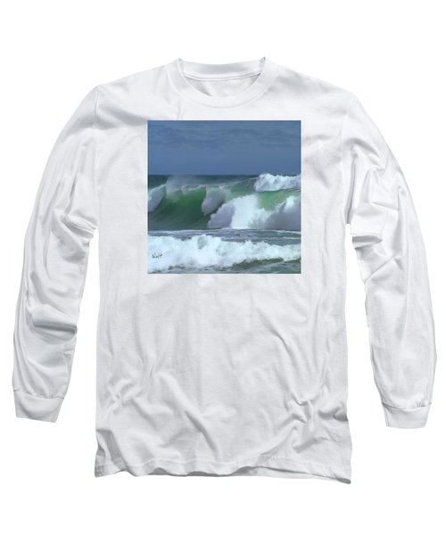 Long Sleeve T-Shirt featuring the digital art Monterey Surf by Walter Chamberlain