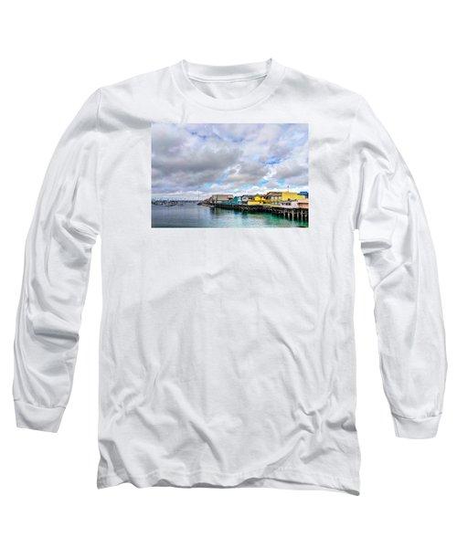 Monterey Wharf  Long Sleeve T-Shirt by Derek Dean