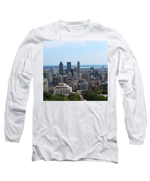 Montreal Cityscape Long Sleeve T-Shirt