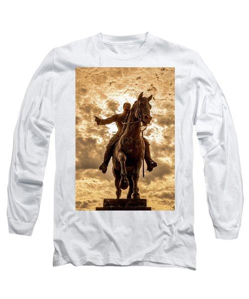 Long Sleeve T-Shirt featuring the photograph Monumento A Calixto Garcia Havana Cuba Malecon Habana by Charles Harden