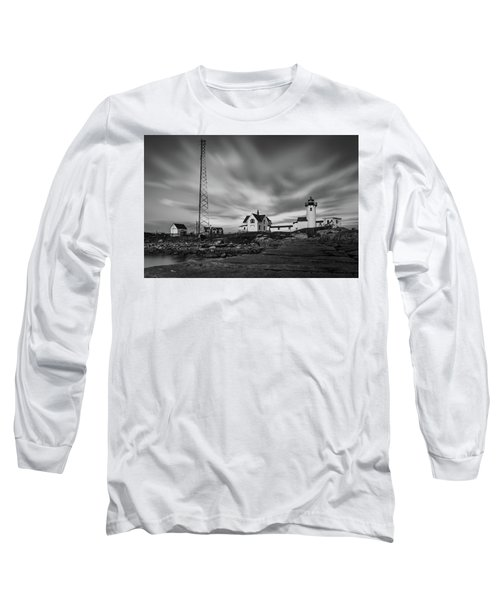 Moody Sky At Eastern Point Lighthouse Long Sleeve T-Shirt