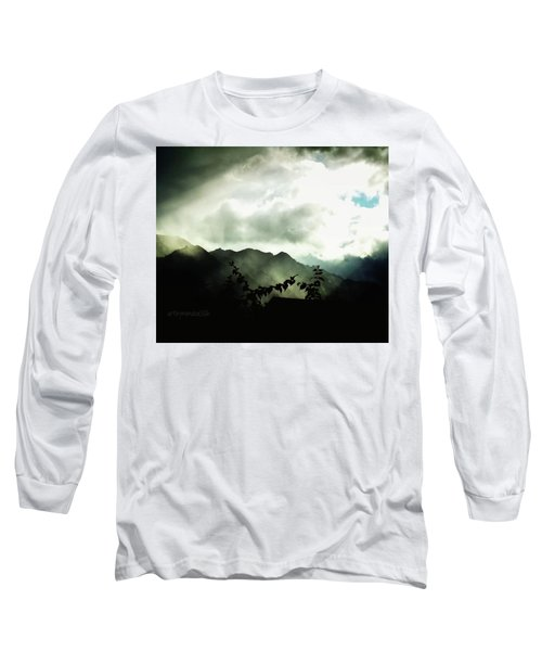 Long Sleeve T-Shirt featuring the photograph Moody Weather by Mimulux patricia no No