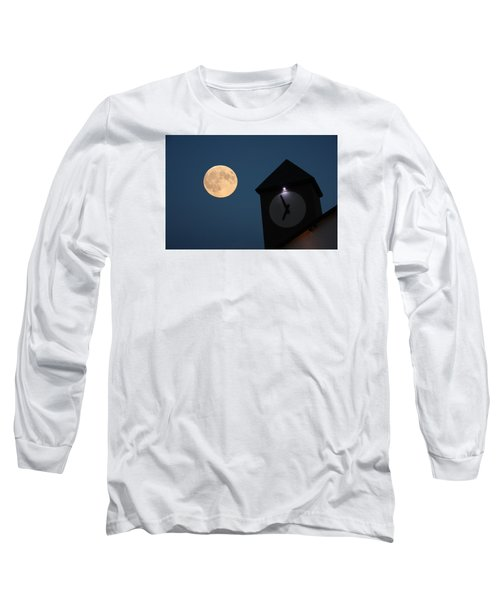 Moon And Clock Tower Long Sleeve T-Shirt