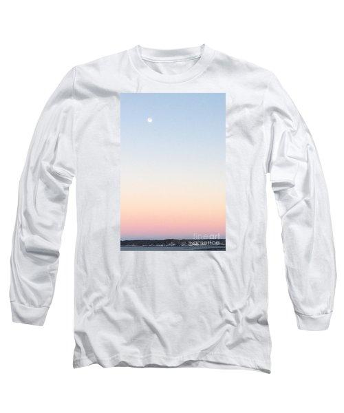 Moon In Twilight Sky Long Sleeve T-Shirt