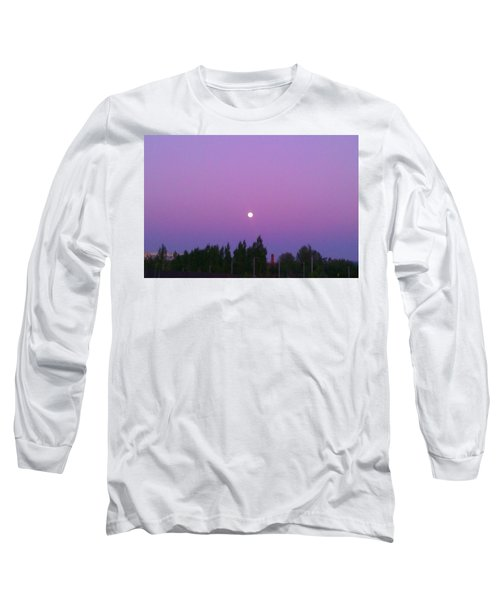 Moon On Perfect Purple Long Sleeve T-Shirt