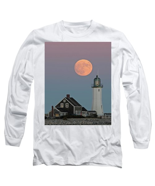 Moon Rise Over Scituate Long Sleeve T-Shirt