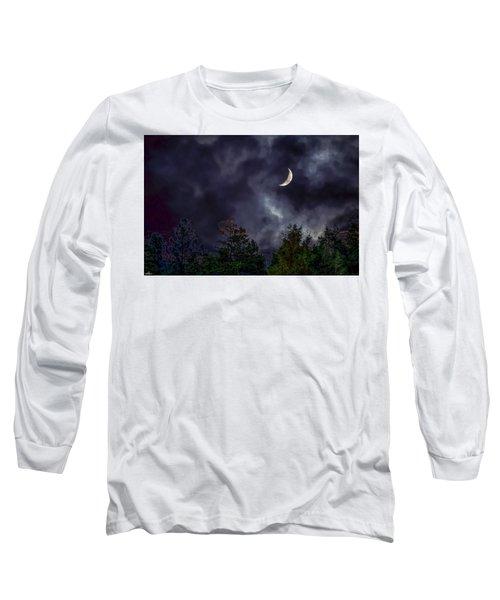 Moon Shine Over The Okanagan Long Sleeve T-Shirt